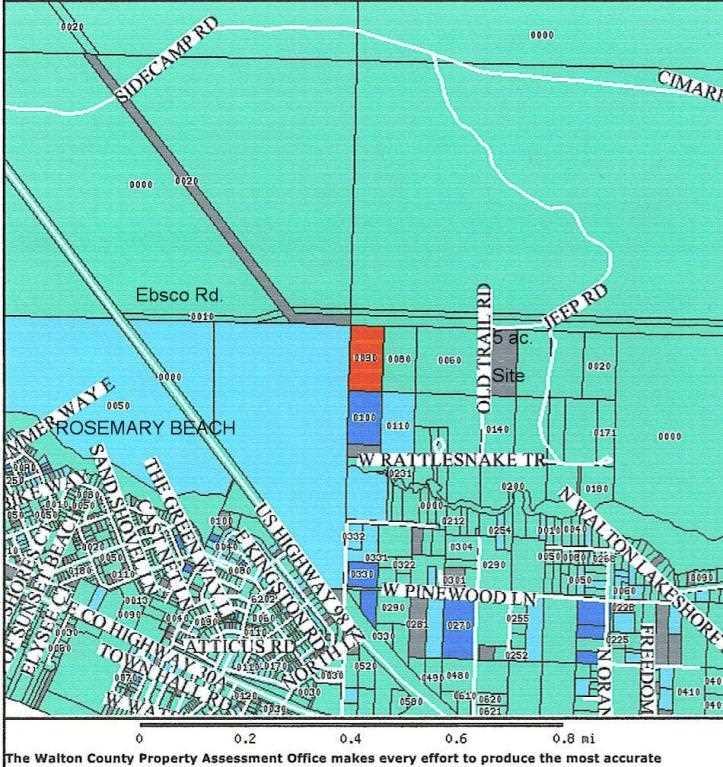 5 AC CORNER BOX TURTLE Inlet Beach, FL 32461 | MLS 720191 Inlet Beach Florida Map on