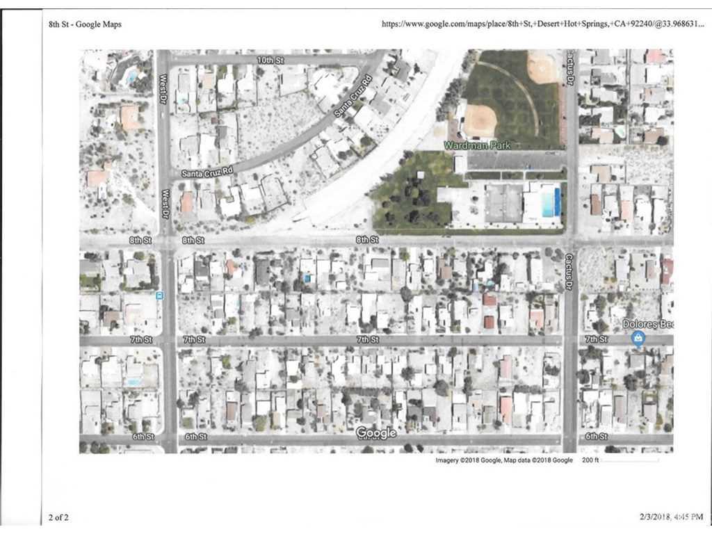 Desert Hot Springs California Map.8th Street Desert Hot Springs Ca 92240 Mls 218004328da