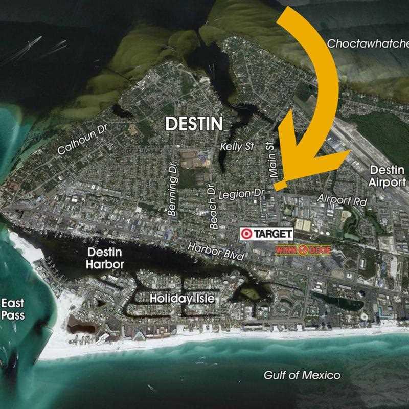Map Of Destin Florida.0 34 Ac Main Street Destin Fl 32541 Mls 792798