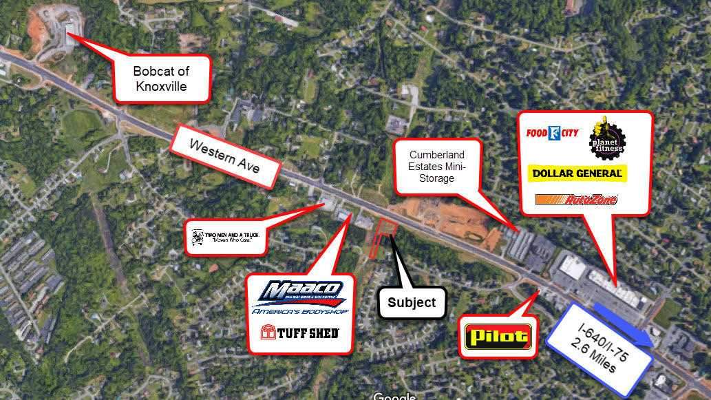 Knoxville Traffic Map.0 Western Ave Knoxville Tn 37921 In Brown Plaza Mls 1040320