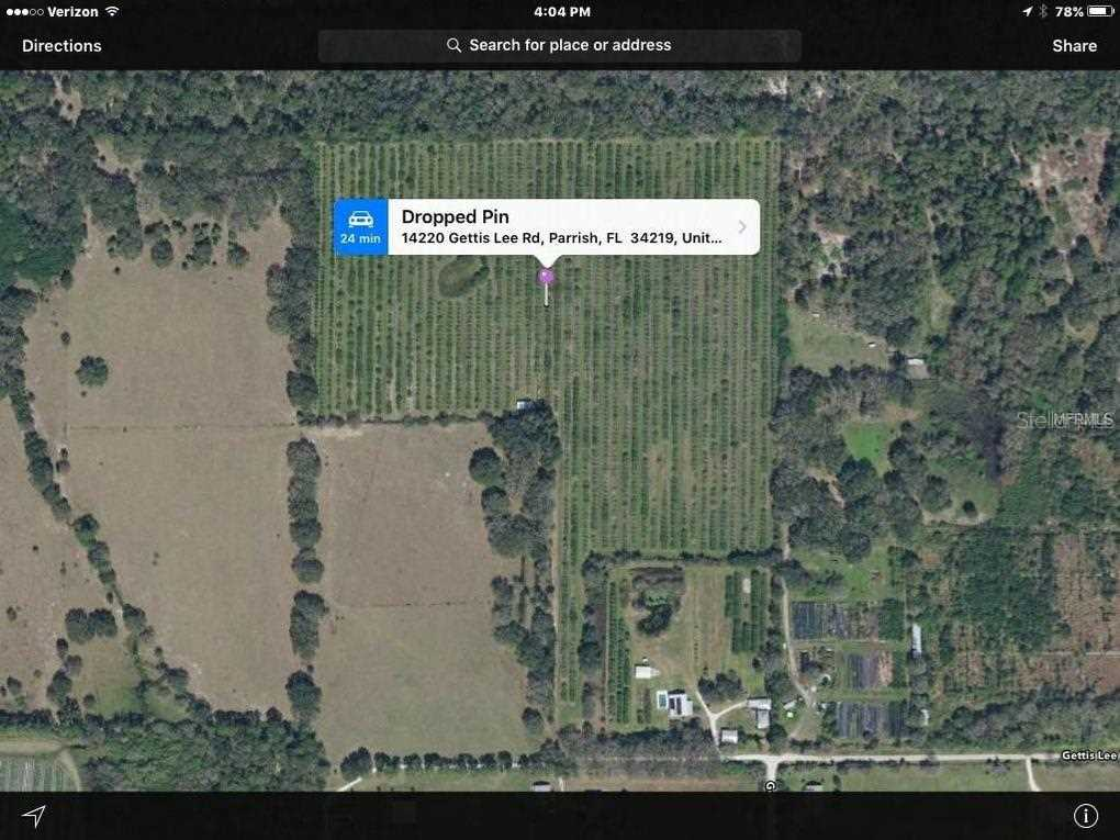 Parrish Florida Map.14220 Gettis Lee Rd34219 Parrishparrishgreat Residential
