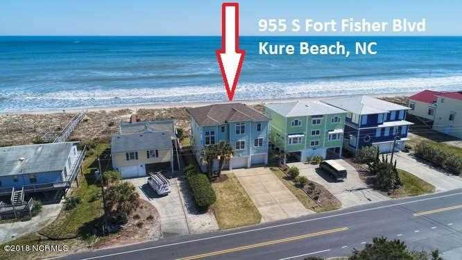 Home For Sale At 955 Fort Fisher Boulevard, Kure Beach NC in Not In Subdivision Photo 1