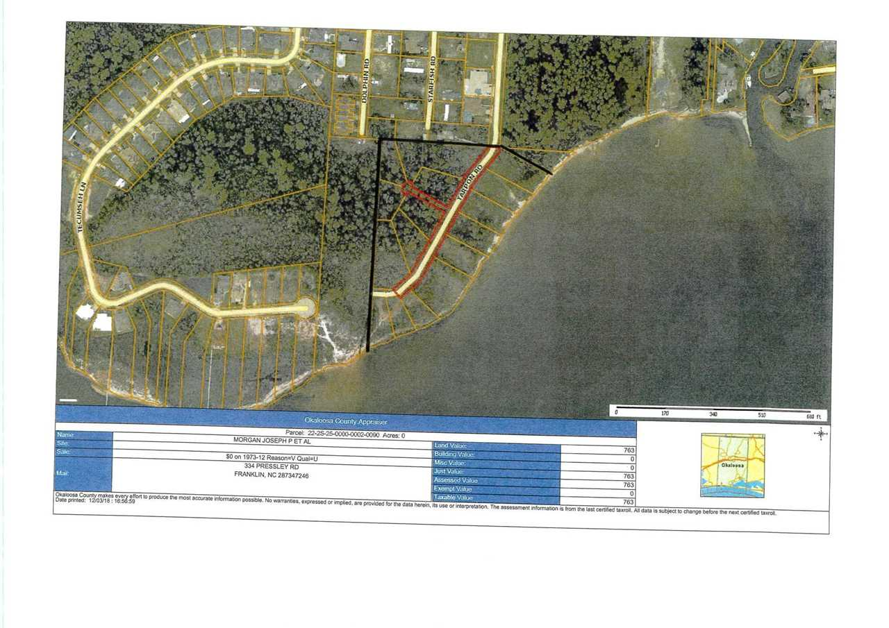 Mary Ester Florida Map.000 Tarpon Road Mary Esther Fl 32569 Mls 812440