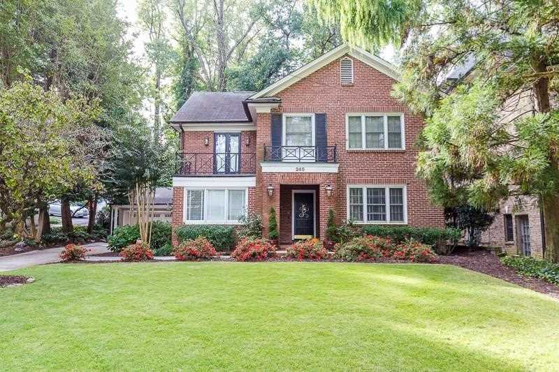 245 Beverly Rd NE is a homes for sale located in the Ansley Park community of Atlanta Photo 1