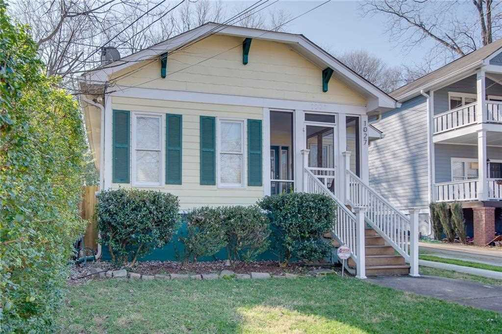 1027 Kirkwood Ave SE is a homes for sale located in the Reynoldstown community of Atlanta Photo 1
