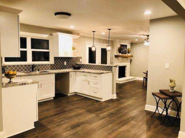 Completely renovated ranch style home in the of Decatur! Open floor on beautiful living room kitchen, sunken kitchen, remodel 1970 ranch style kitchen, ranch house plans with open floor plan, homes open floor kitchen,